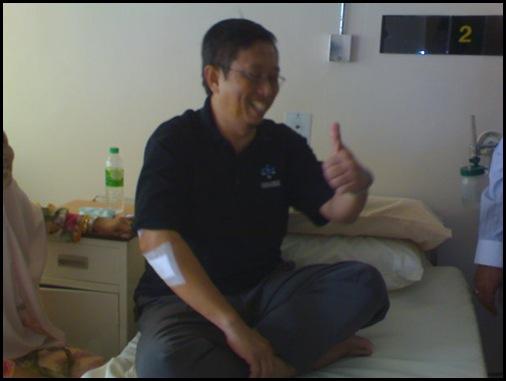 Datuk Seri Nizar Cedera