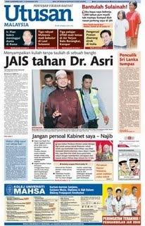 Utusan Malaysia Depan Dr Asri