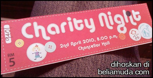 charity night 2010 ticket