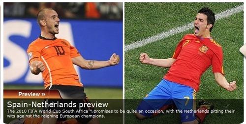 Sepanyol vs Belanda FIFA 2010